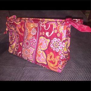 Vera Bradley's Retired Raspberry Fizz  Makeup Bag